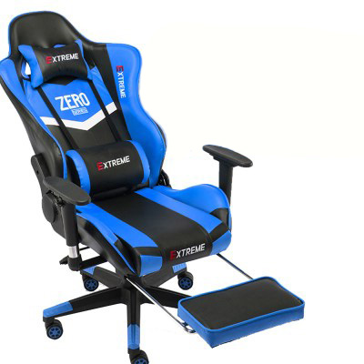 Ghế chơi game extreme zero xanh đen gác chân
